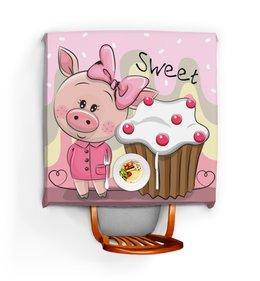 """Скатерть квадратная """"Свинья"""" - сладости, кекс, 2019, новый год, год свиньи"""