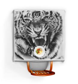"""Скатерть квадратная """"Хищник"""" - царь, тигр, зверей"""