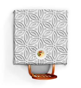 """Скатерть квадратная """"Японский узор"""" - орнамент, узор, кружево, цветы, геометрический"""