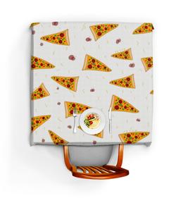 """Скатерть квадратная """"Кусочки пиццы"""" - еда, пицца, фастфуд"""