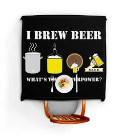 """Скатерть квадратная """"Я варю пиво, а в чем твоя суперсила."""" - пивоварение"""
