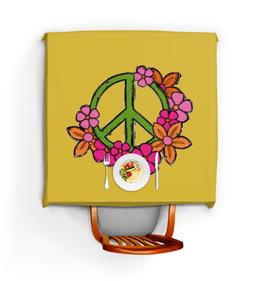 """Скатерть квадратная """"Хиппи"""" - любовь, цветы, мир, дом, хиппи"""