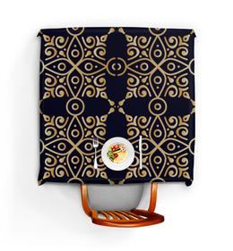 """Скатерть квадратная """"Цветочное золото"""" - кружево, орнамент, мандала, этнический, узор"""