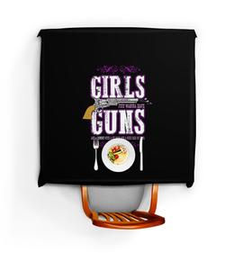 """Скатерть квадратная """"Девушкам просто нужен ствол"""" - пистолет, ковбой, стрельба, ipsc, практическая"""