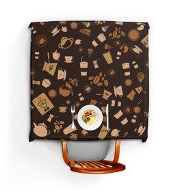 """Скатерть квадратная """"Кофе."""" - ретро, сладости, кофе, шоколад"""