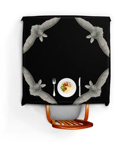 """Скатерть квадратная """"Летучая мышь, Ernst Haeckel"""" - оригинальный, хеллоуин, летучая мышь, красота форм в природе, эрнст геккель"""