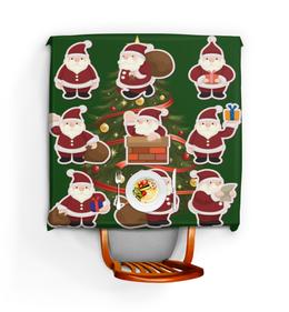 """Скатерть квадратная """"Дед мороз"""" - праздник, новый год, дед мороз, елка"""