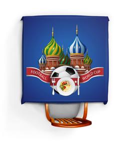 """Скатерть квадратная """"Футбол"""" - футбол, спорт, россия, мяч"""
