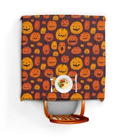 """Скатерть квадратная """"Halloween """" - праздник, хэллоуин, тыква"""