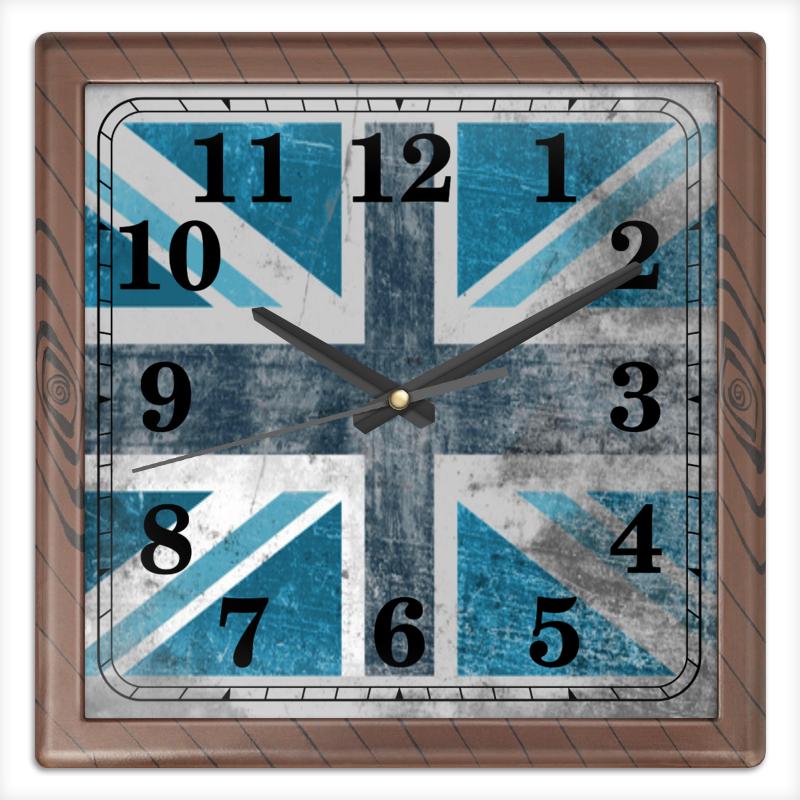 Часы квадратные из пластика (под дерево) Printio Голубой флаг британии часы квадратные из пластика под дерево printio россия