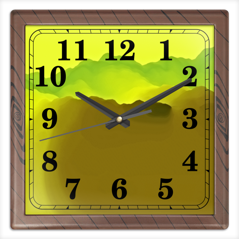 Часы квадратные из пластика (под дерево) Printio Живописные краски часы квадратные из пластика под дерево printio michael jackson