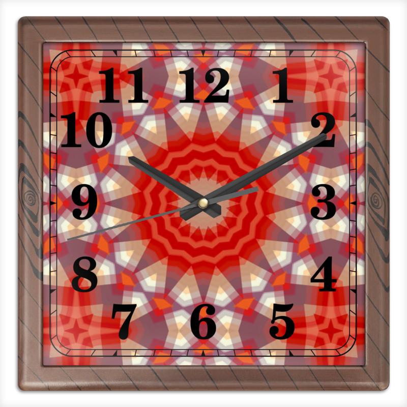 Часы квадратные из пластика (под дерево) Printio Sihaya часы квадратные из пластика под дерево printio россия