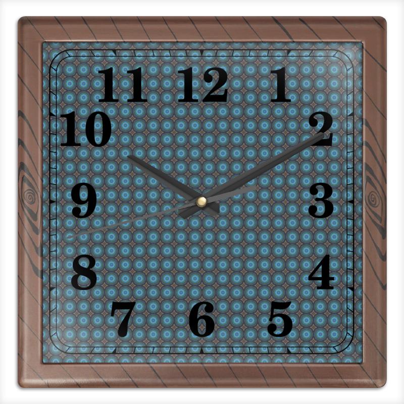Часы квадратные из пластика (под дерево) Printio Detroit часы квадратные из пластика под дерево printio россия