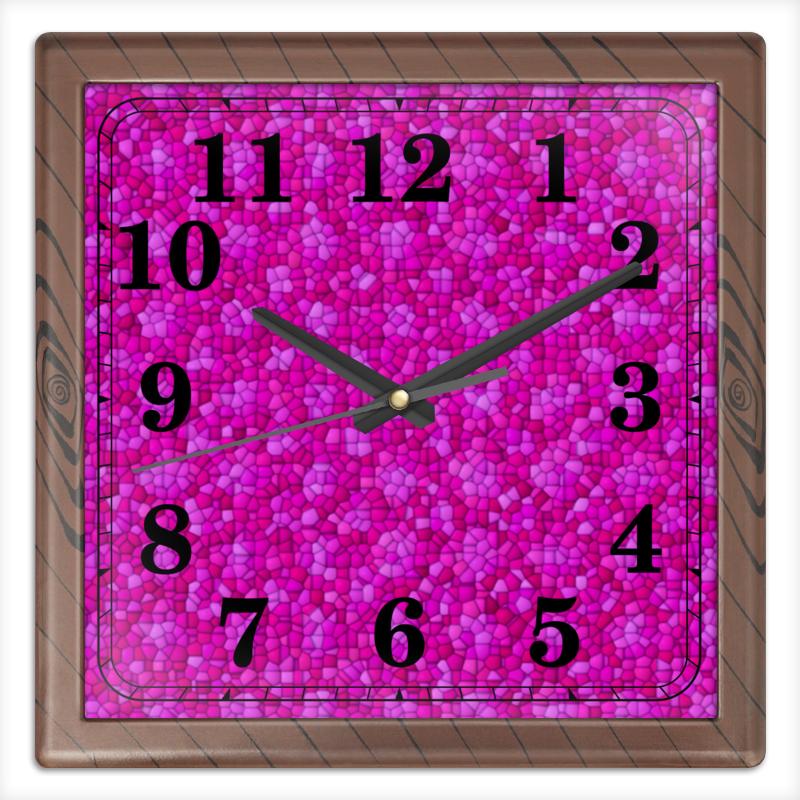 Часы квадратные из пластика (под дерево) Printio Purple профнастил под дерево харьков