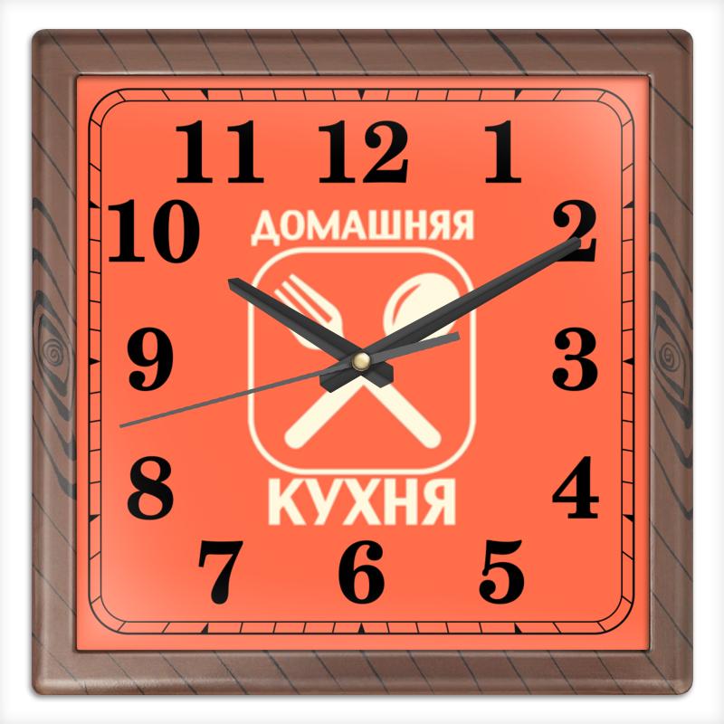 Часы квадратные из пластика (под дерево) Printio Домашняя кухня время люстра globo 69003 5