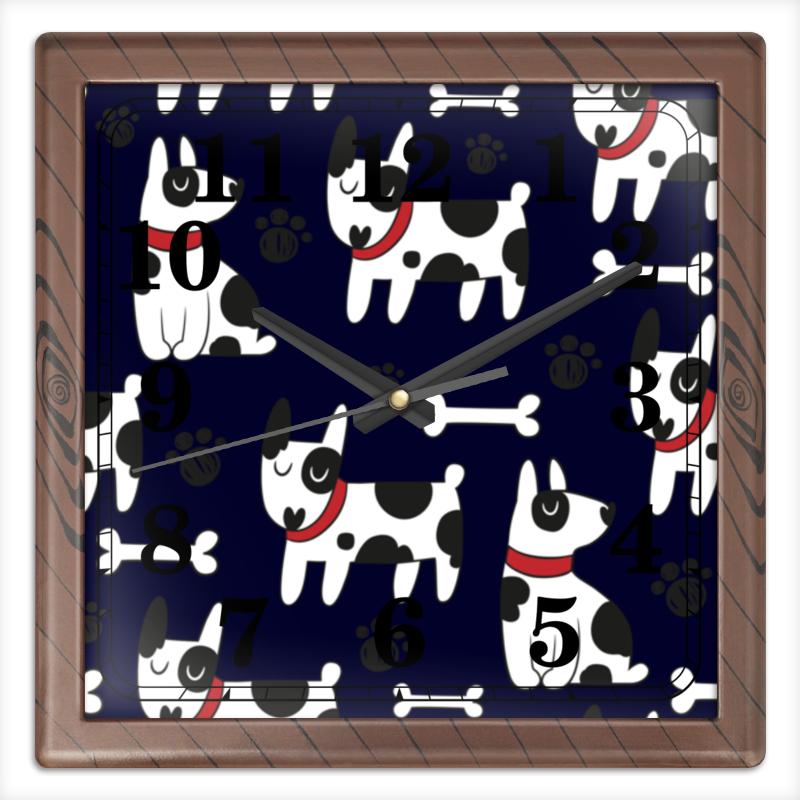 Часы квадратные из пластика (под дерево) Printio Далматинец часы квадратные из пластика под дерево printio россия