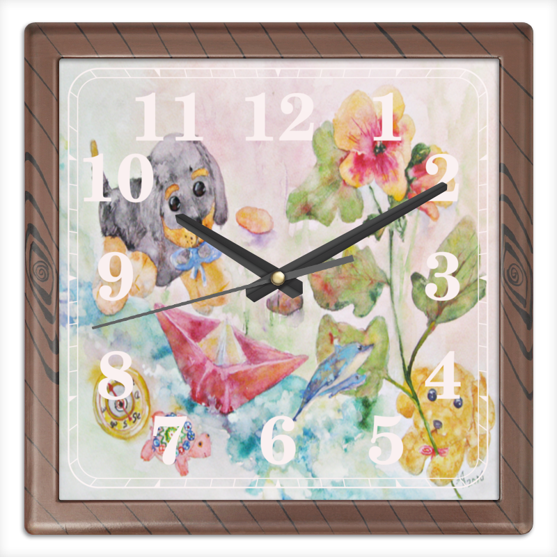 Фото - Часы квадратные из пластика (под дерево) Printio Плюшевая история подушка printio плюшевая истрия