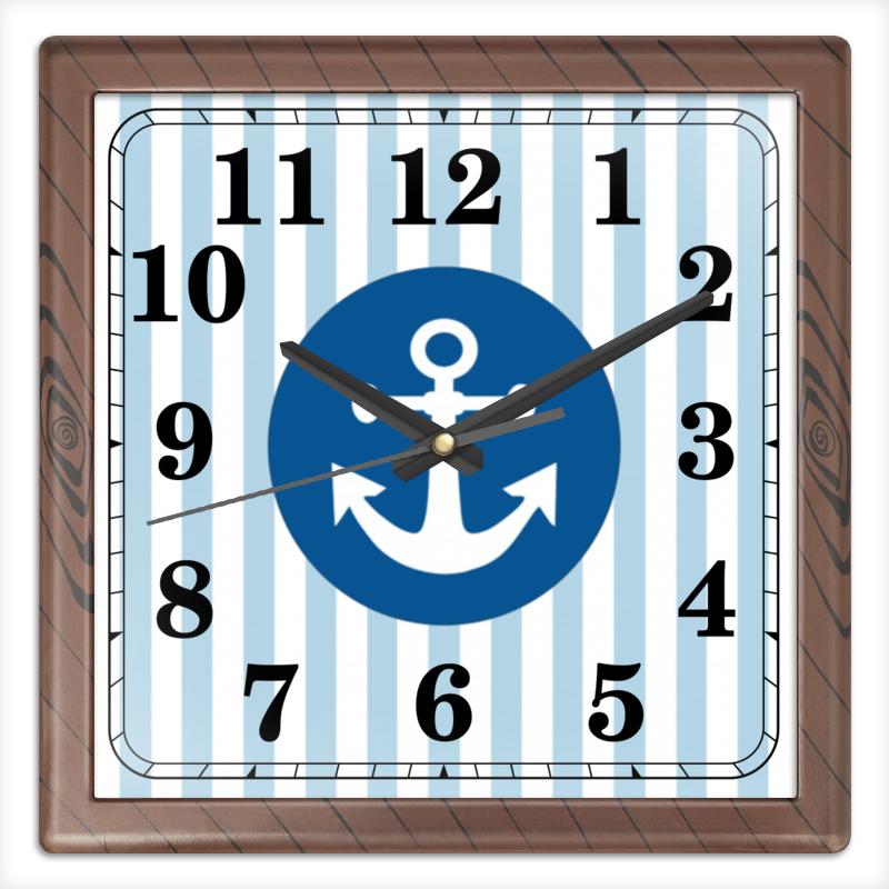 Часы квадратные из пластика (под дерево) Printio Морской волк часы квадратные из пластика под дерево printio fluxx