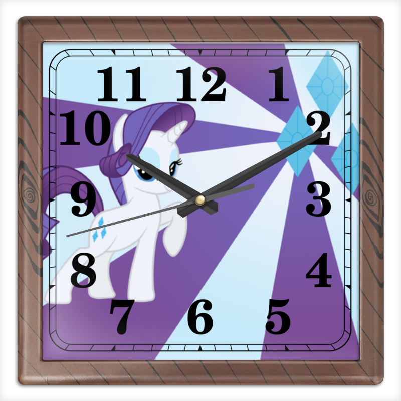 Часы квадратные из пластика (под дерево) Printio Rarity color line