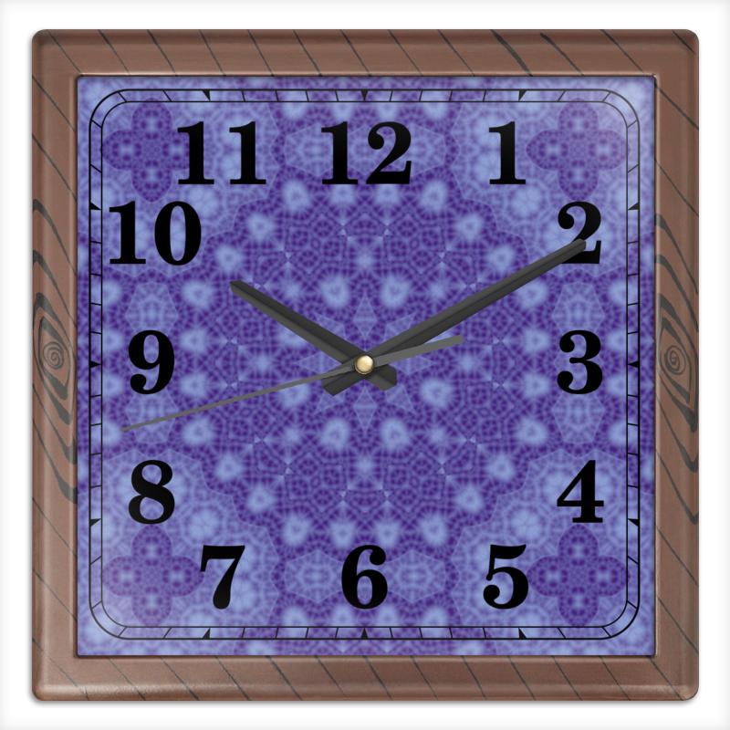 Часы квадратные из пластика (под дерево) Printio After rain часы квадратные из пластика под дерево printio море корги