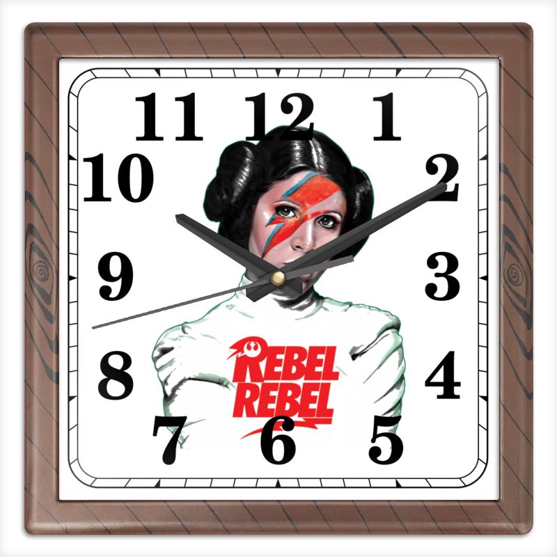 Часы квадратные из пластика (под дерево) Printio Лея органа часы квадратные из пластика под дерево printio россия