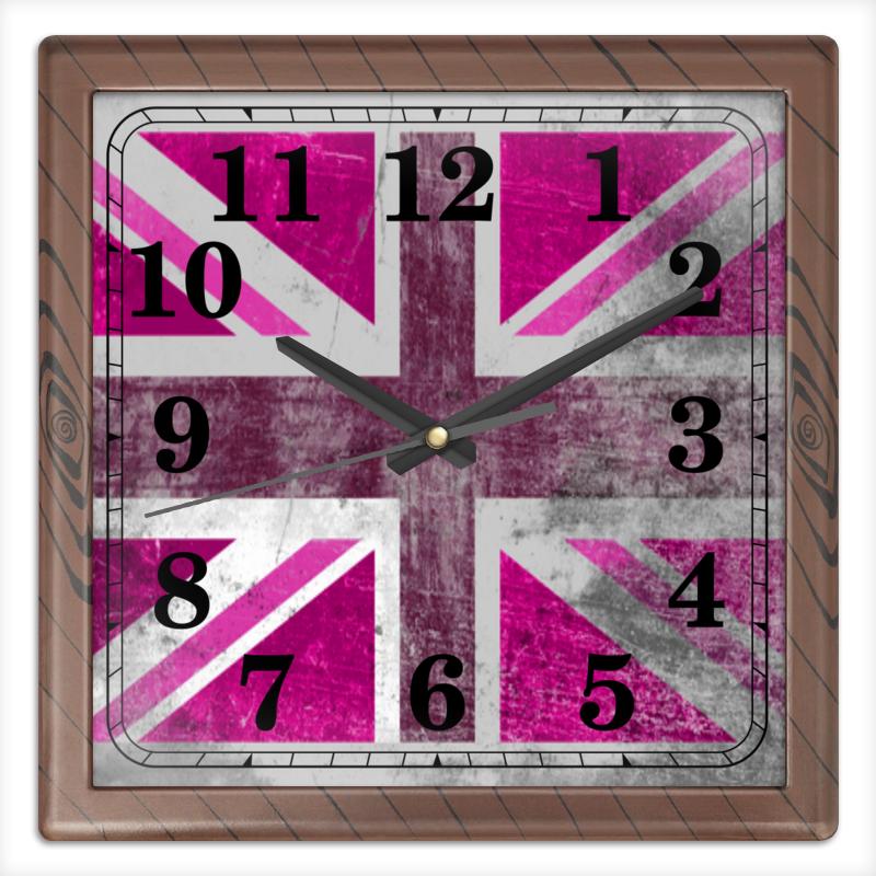 Часы квадратные из пластика (под дерево) Printio Розовый флаг британии часы квадратные из пластика под дерево printio россия