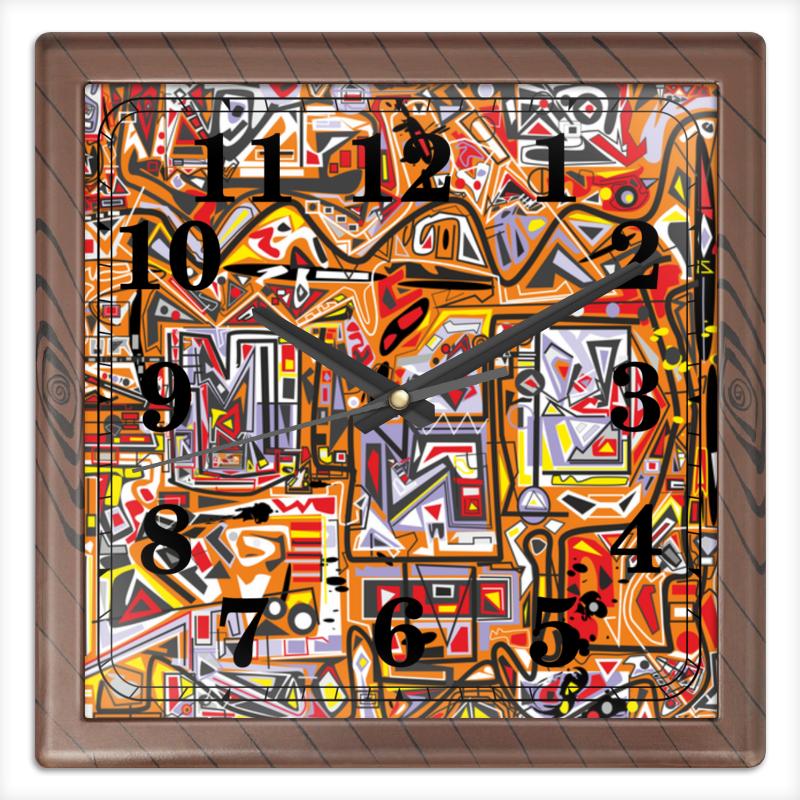 Часы квадратные из пластика (под дерево) Printio Zzzeert часы квадратные из пластика под дерево printio олень