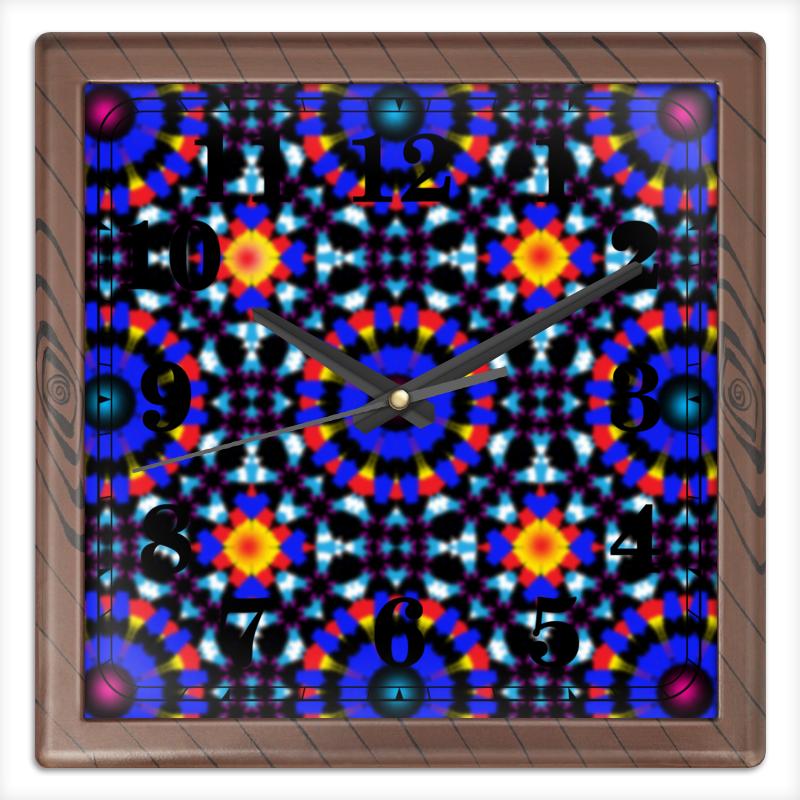 Часы квадратные из пластика (под дерево) Printio Ультрамарин часы квадратные из пластика под дерево printio the nexus