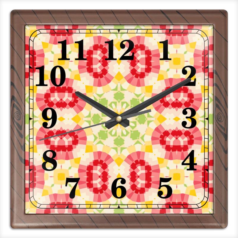 Часы квадратные из пластика (под дерево) Printio Retouched часы квадратные из пластика под дерево printio the nexus