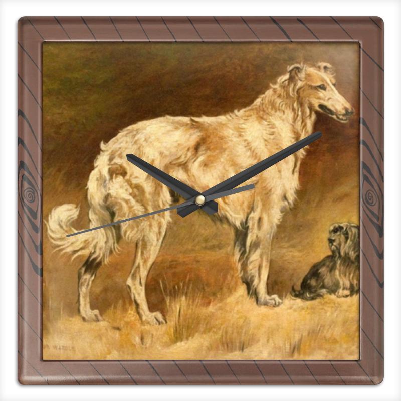 Часы квадратные из пластика (под дерево) Printio 2018 год желтой собаки часы квадратные из пластика под дерево printio россия