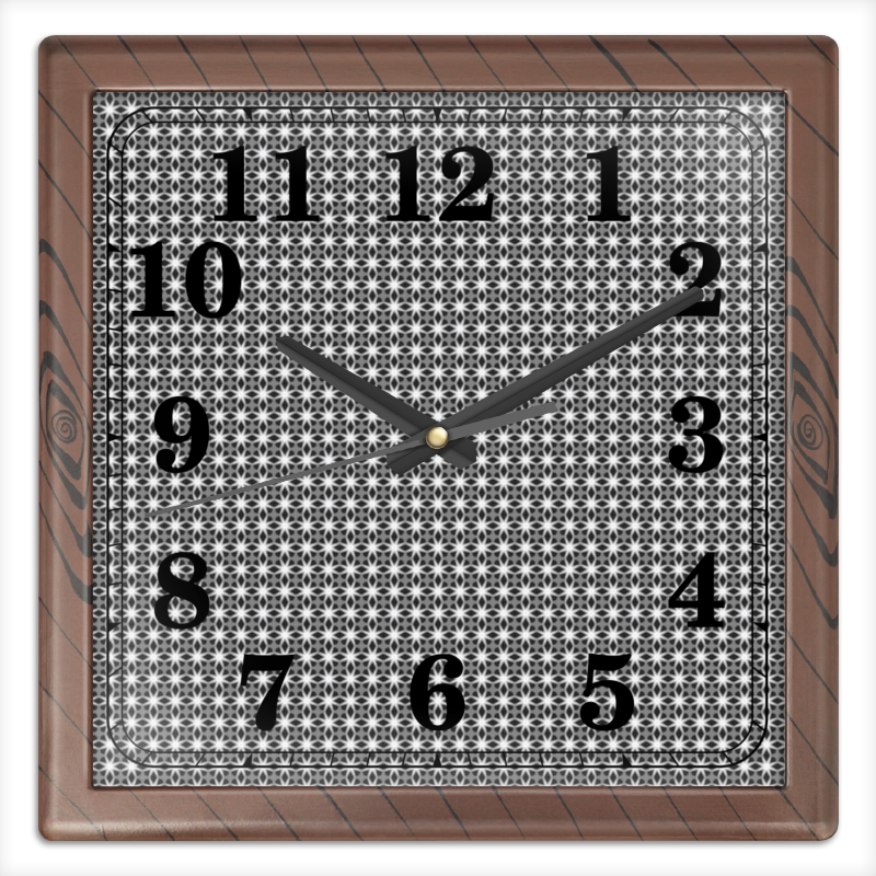 Часы квадратные из пластика (под дерево) Printio Valentine часы квадратные из пластика под дерево printio россия
