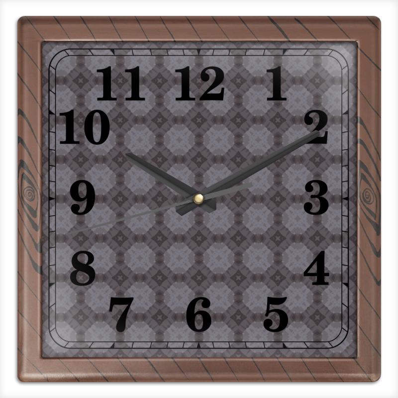 Часы квадратные из пластика (под дерево) Printio Static часы квадратные из пластика под дерево printio россия