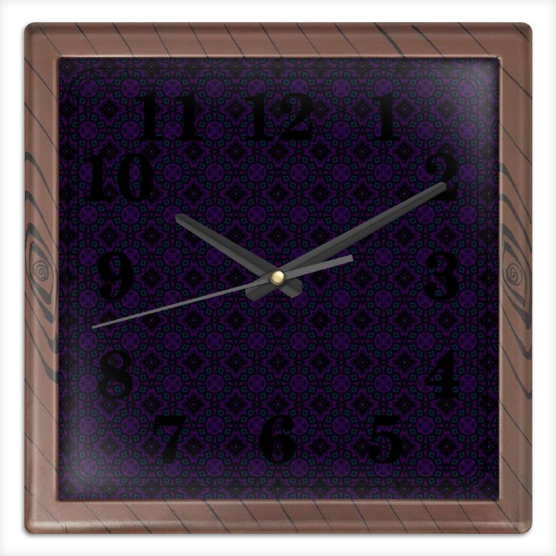 Часы квадратные из пластика (под дерево) Printio In garden часы квадратные из пластика под дерево printio michael jackson