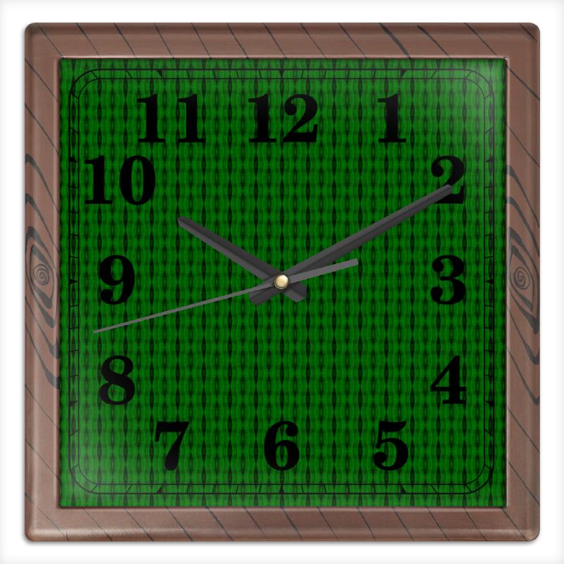 Часы квадратные из пластика (под дерево) Printio Machine часы квадратные из пластика под дерево printio россия