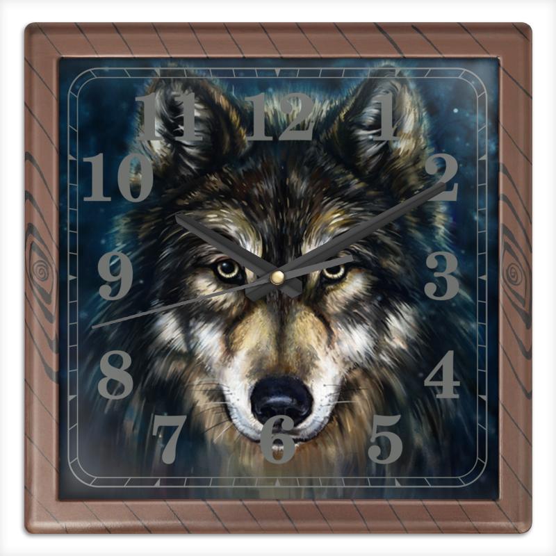 Printio Волки фэнтези. седой волк часы квадратные из пластика под дерево printio лотос