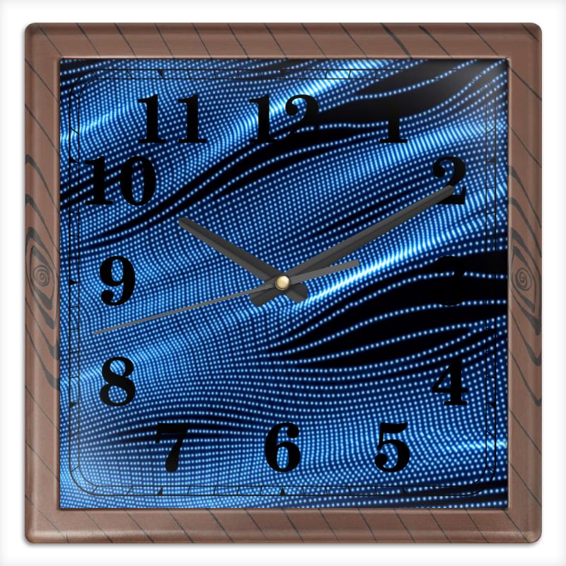 Часы квадратные из пластика (под дерево) Printio Звуковые волны часы квадратные из пластика под дерево printio море корги