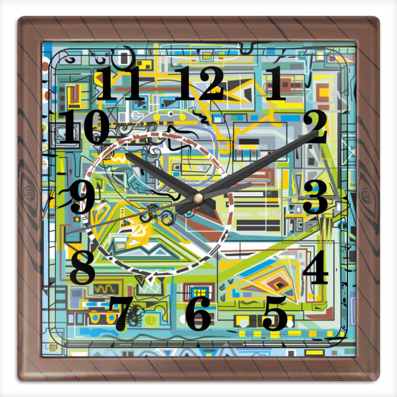 Часы квадратные из пластика (под дерево) Printio Березка часы квадратные из пластика под дерево printio россия