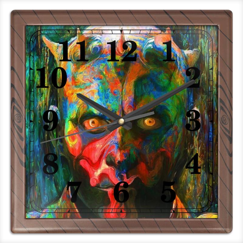 Часы квадратные из пластика (под дерево) Printio Дарт мол маслом часы квадратные из пластика под дерево printio россия