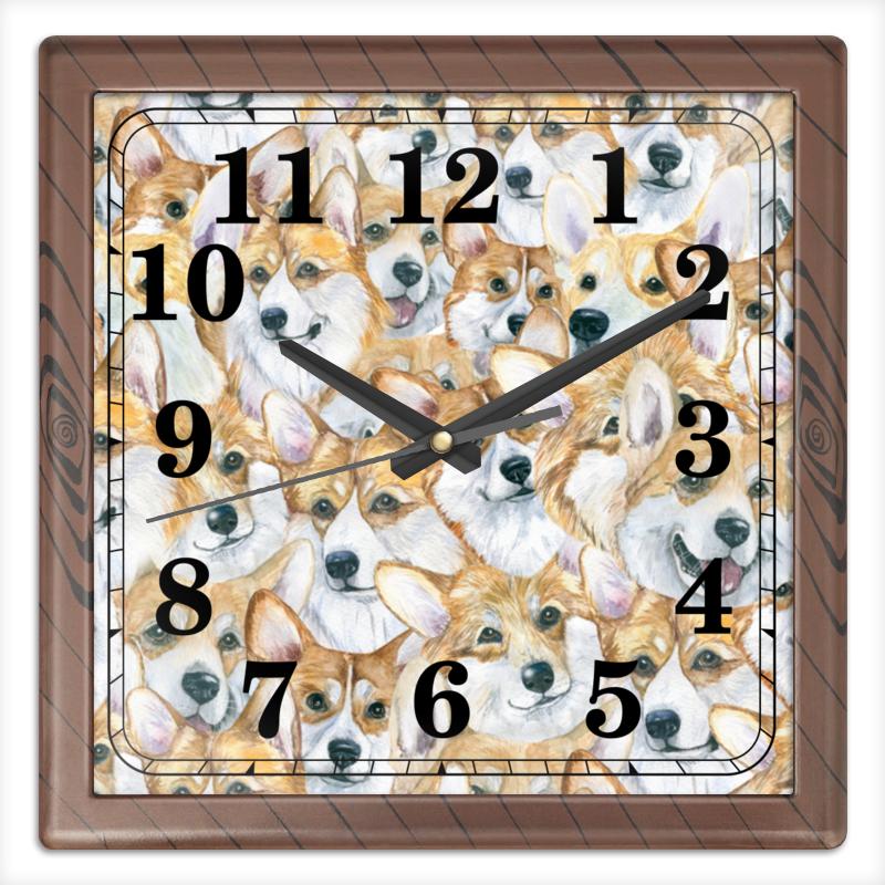 Часы квадратные из пластика (под дерево) Printio Море корги часы квадратные из пластика под дерево printio michael jackson