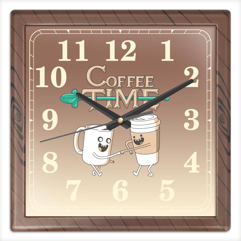 Часы квадратные из пластика (под дерево) Printio Время кофе часы квадратные из пластика под дерево printio michael jackson
