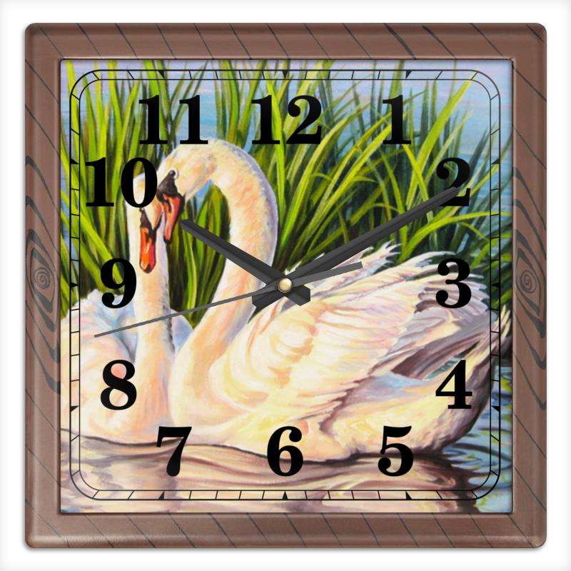 Часы квадратные из пластика (под дерево) Printio Навсегда рязань дом под снос