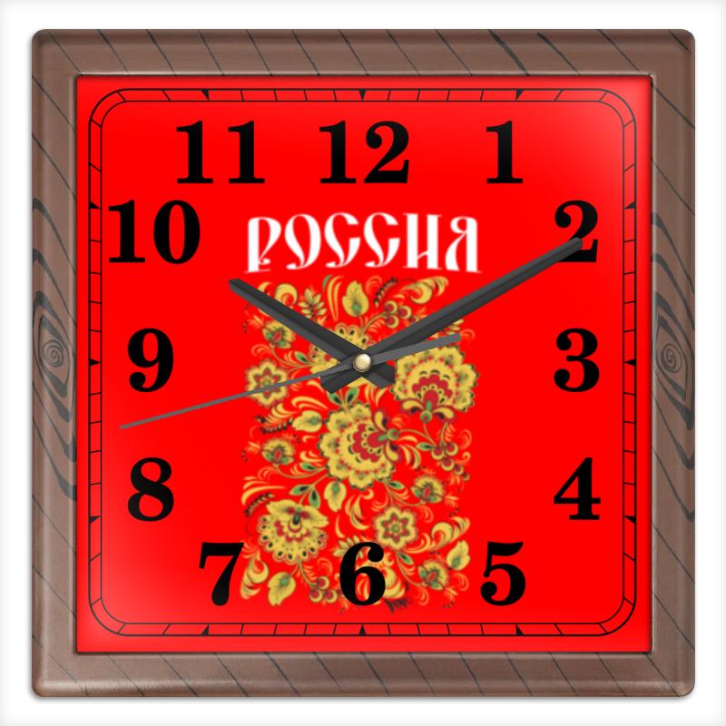 Часы квадратные из пластика (под дерево) Printio Россия часы квадратные из пластика под дерево printio россия