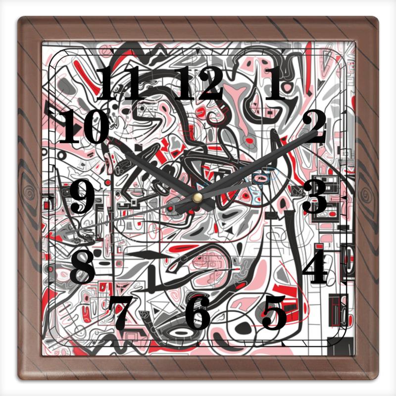 Часы квадратные из пластика (под дерево) Printio Mamewax часы квадратные из пластика под дерево printio россия