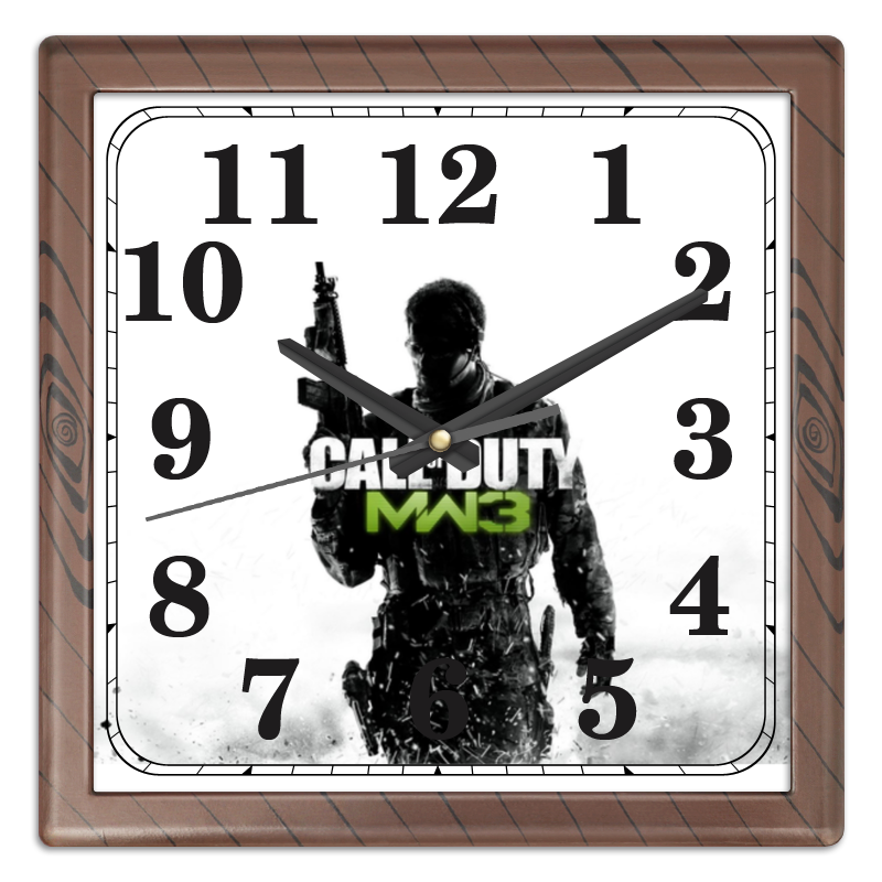 Часы квадратные из пластика (под дерево) Printio Call of duty вида из винда носовых платков раз жесткий слой 3 18 tissue mini kit юка
