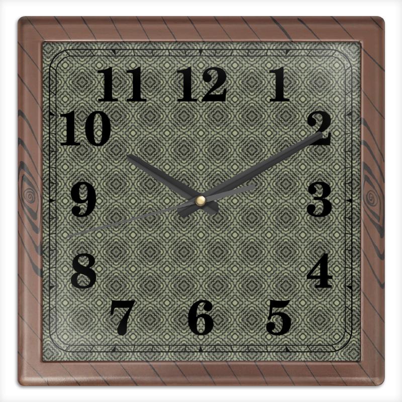 Часы квадратные из пластика (под дерево) Printio Fluxx часы квадратные из пластика под дерево printio fluxx