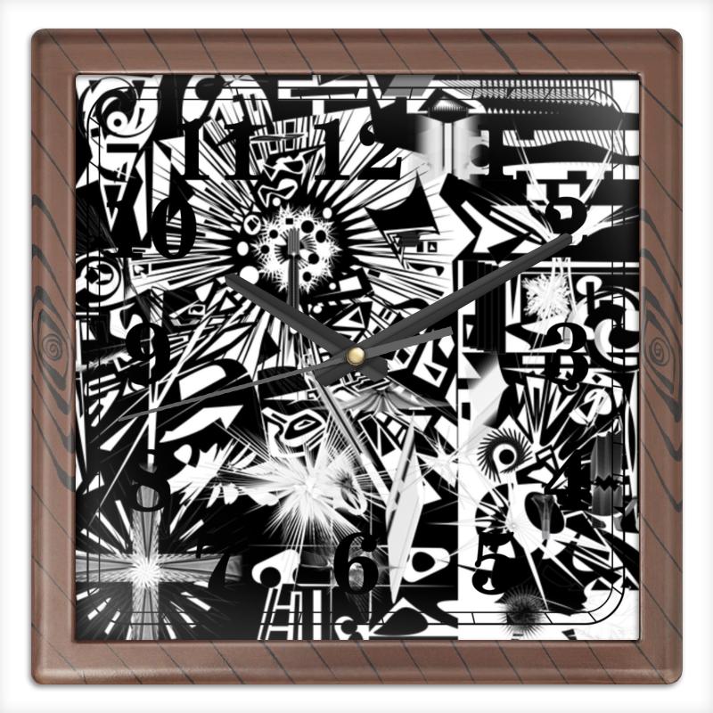 Часы квадратные из пластика (под дерево) Printio С яблоком часы квадратные из пластика под дерево printio michael jackson