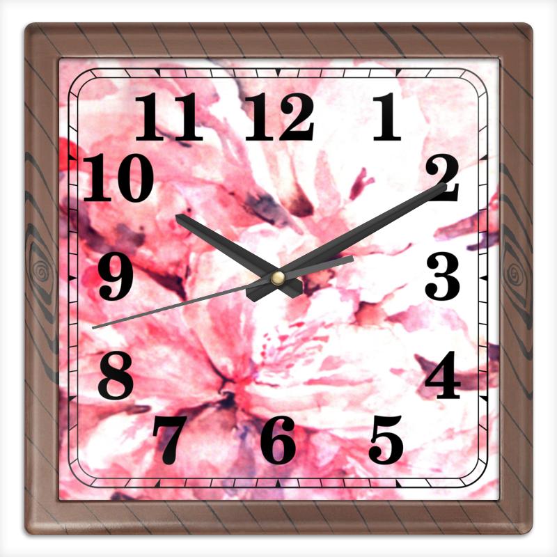 Часы квадратные из пластика (под дерево) Printio Лепестки цветов часы квадратные из пластика под дерево printio россия