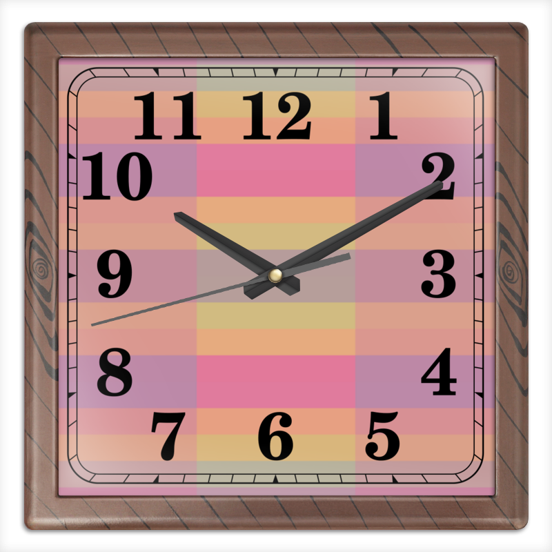 Часы квадратные из пластика (под дерево) Printio Tf3olo часы квадратные из пластика под дерево printio россия