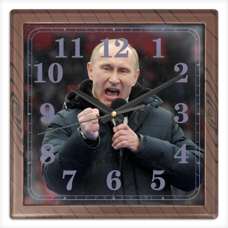Printio Путин. политика часы круглые из пластика printio владимир путин
