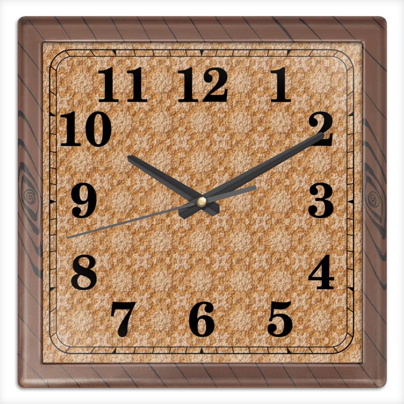 Часы квадратные из пластика (под дерево) Printio Dustcloud часы квадратные из пластика под дерево printio россия